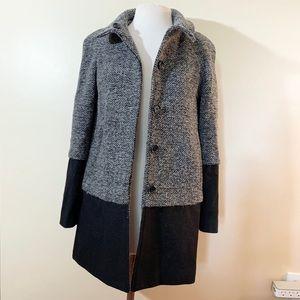 NINE WEST wool color block COAT